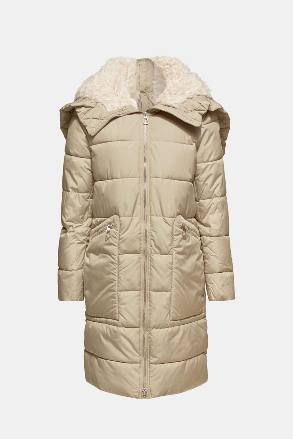 Quilted coat with 3M™ Thinsulate™ padding, PALE KHAKI, detail image number 6