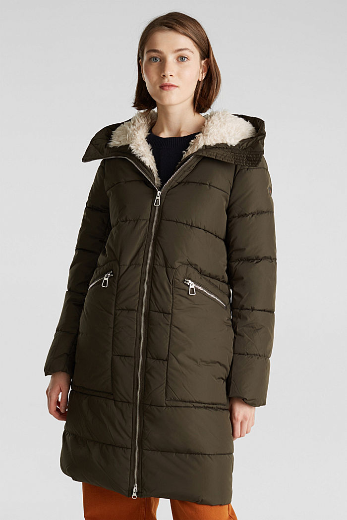 Quilted coat with 3M™ Thinsulate™ padding, DARK KHAKI, detail image number 0