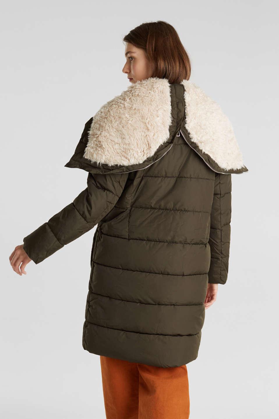 Coats woven, DARK KHAKI, detail image number 3