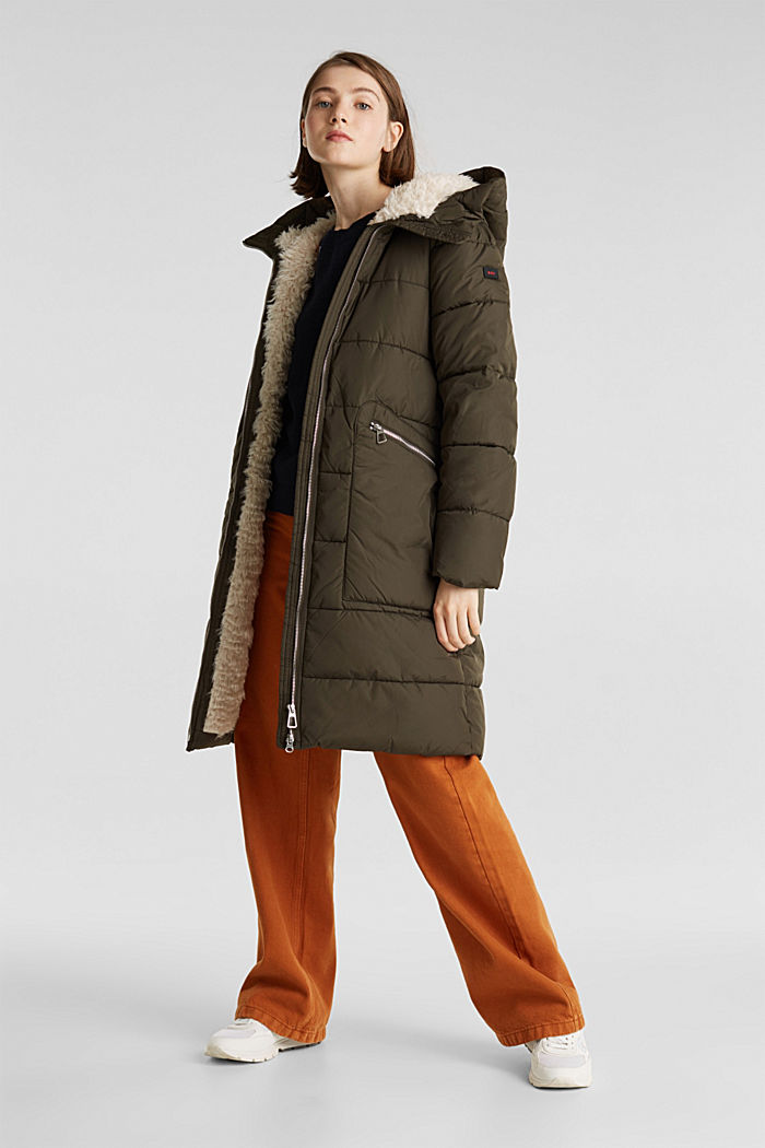 Quilted coat with 3M™ Thinsulate™ padding, DARK KHAKI, detail image number 1