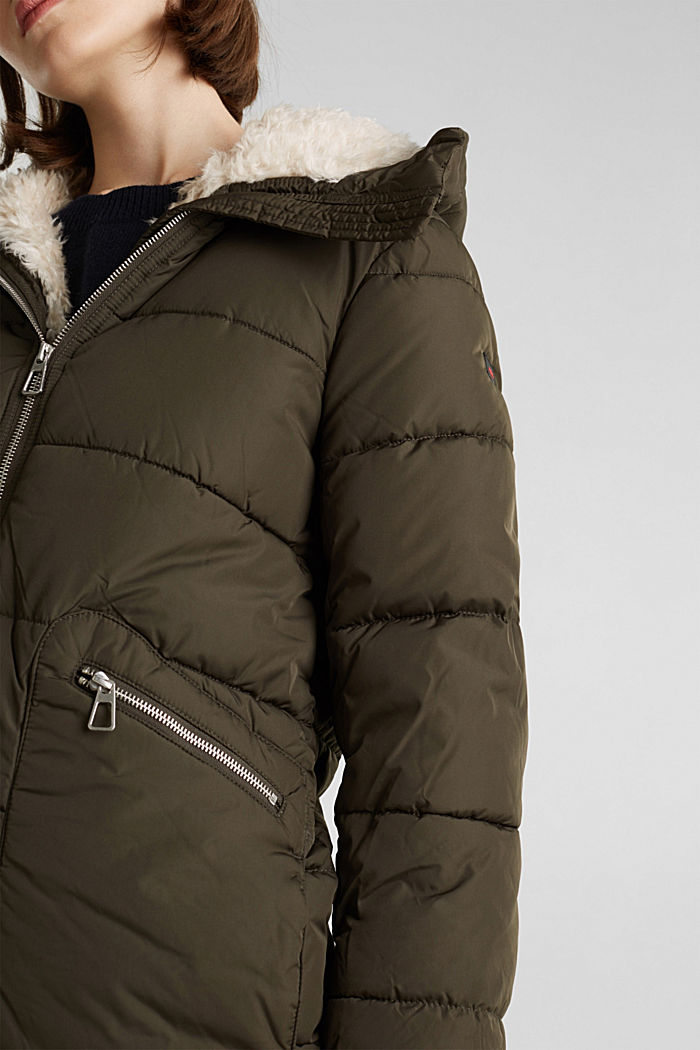 Quilted coat with 3M™ Thinsulate™ padding, DARK KHAKI, detail image number 2
