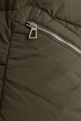 Quilted coat with 3M™ Thinsulate™ padding, DARK KHAKI, detail