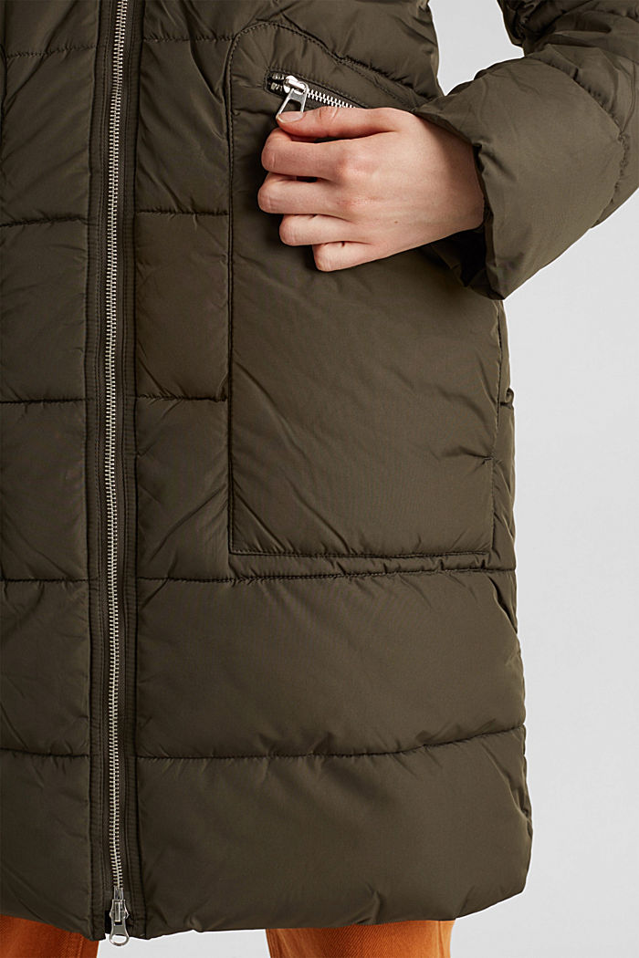 Quilted coat with 3M™ Thinsulate™ padding, DARK KHAKI, detail image number 5