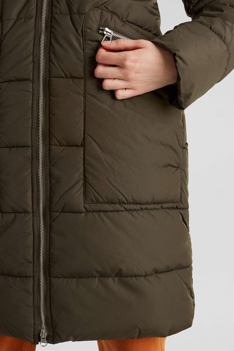 Coats woven, DARK KHAKI, detail image number 6