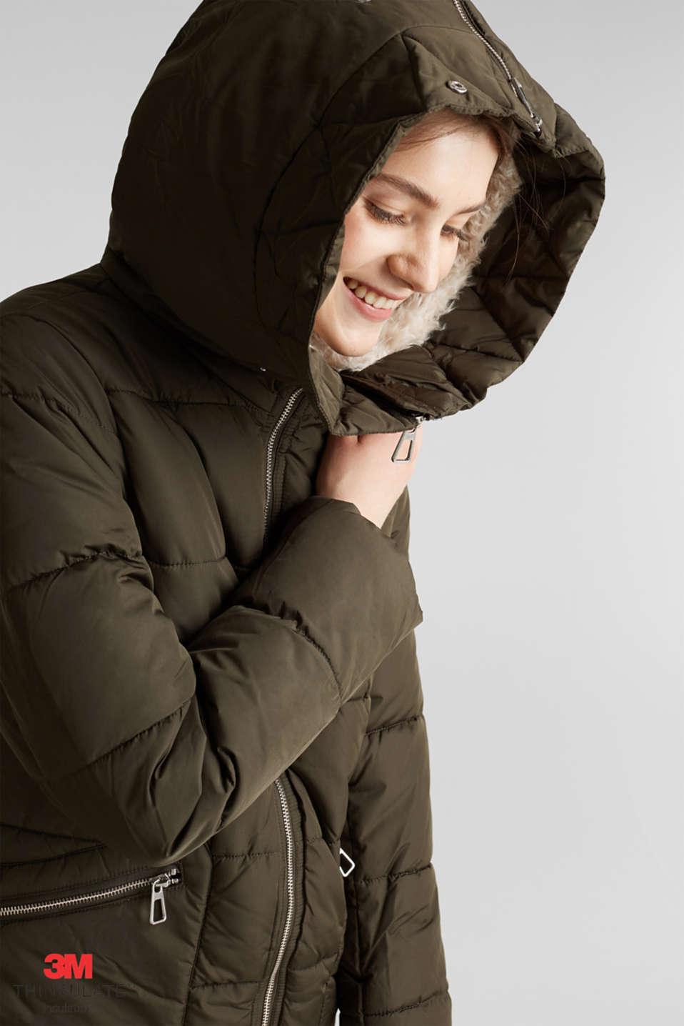 Coats woven, DARK KHAKI, detail image number 8