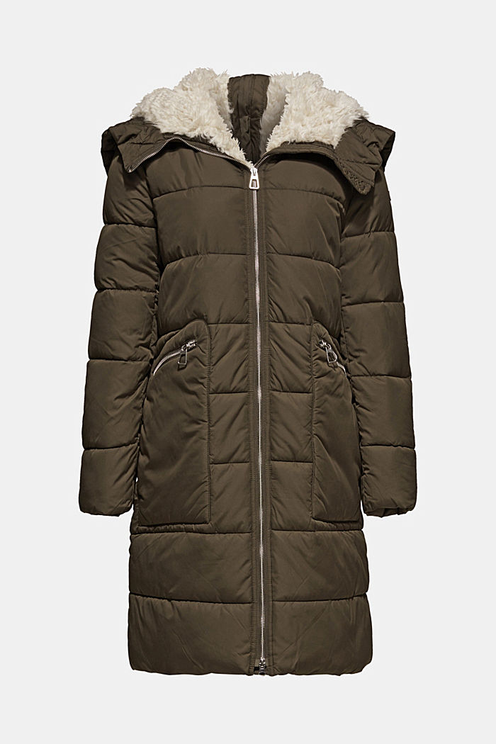 Quilted coat with 3M™ Thinsulate™ padding, DARK KHAKI, detail image number 7