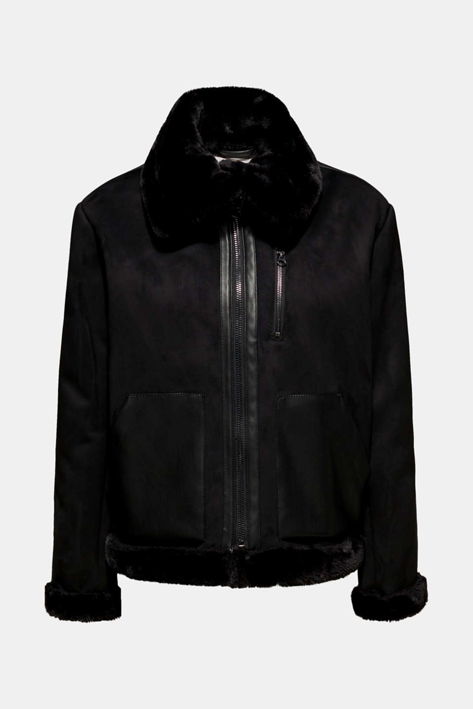 Jackets outdoor woven, BLACK, detail image number 7