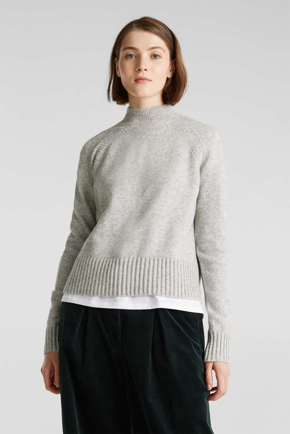 edc - Wool blend: jumper with textured stripes