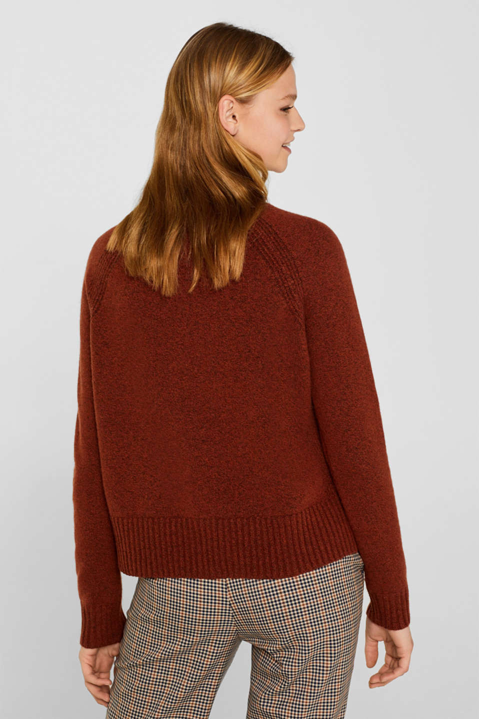 Sweaters, RUST BROWN 5, detail image number 3