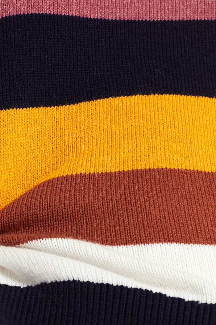 With wool: block stripe jumper, HONEY YELLOW, detail image number 4