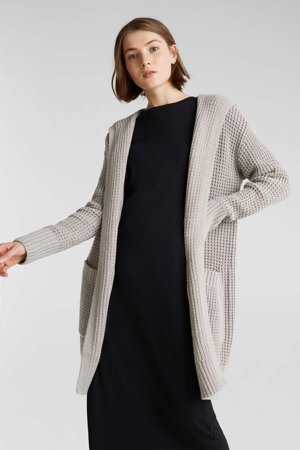 Sweaters cardigan, LIGHT GREY 5, detail image number 0