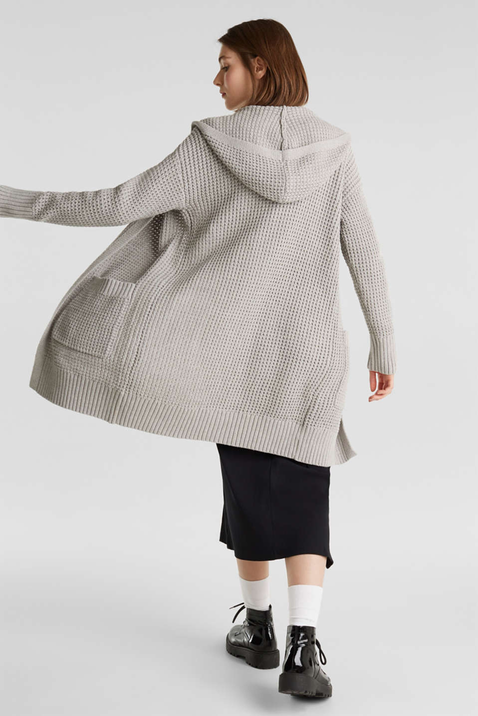 Sweaters cardigan, LIGHT GREY 5, detail image number 3
