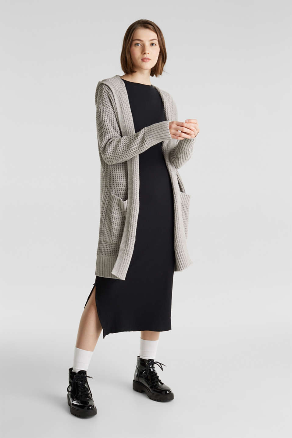 Sweaters cardigan, LIGHT GREY 5, detail image number 1