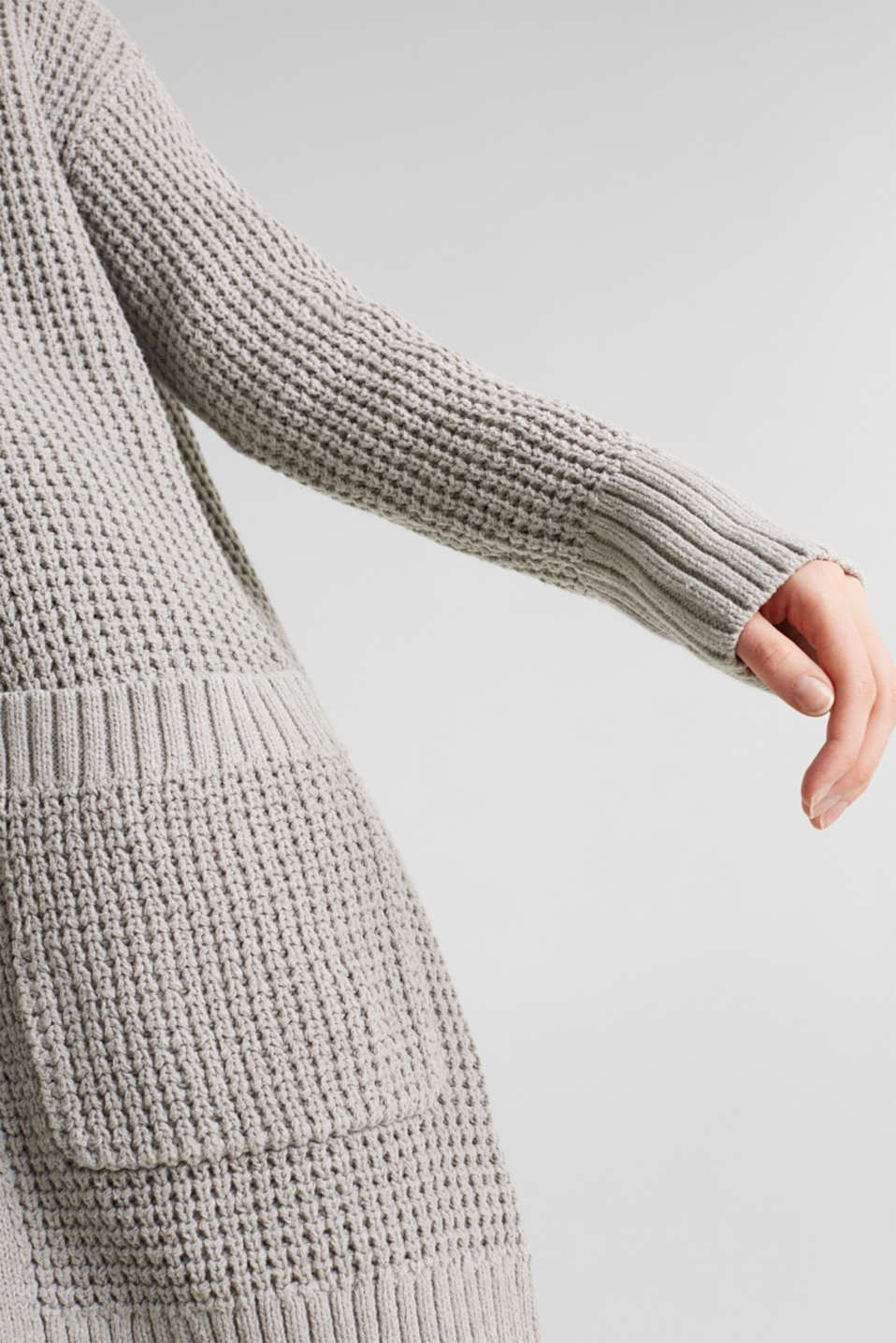 Sweaters cardigan, LIGHT GREY 5, detail image number 2