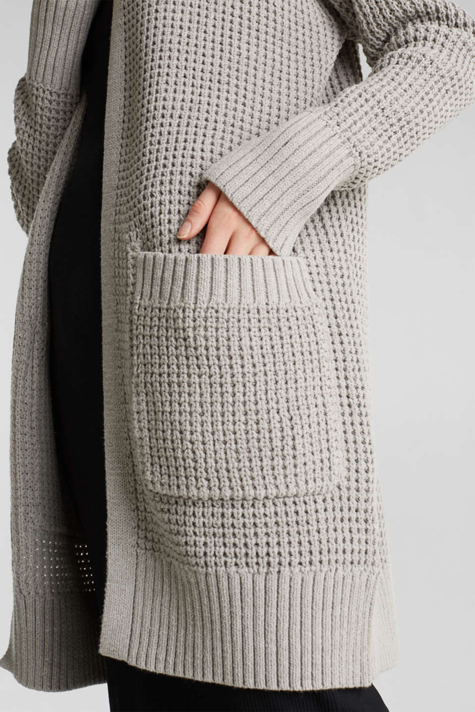 Sweaters cardigan, LIGHT GREY 5, detail image number 6
