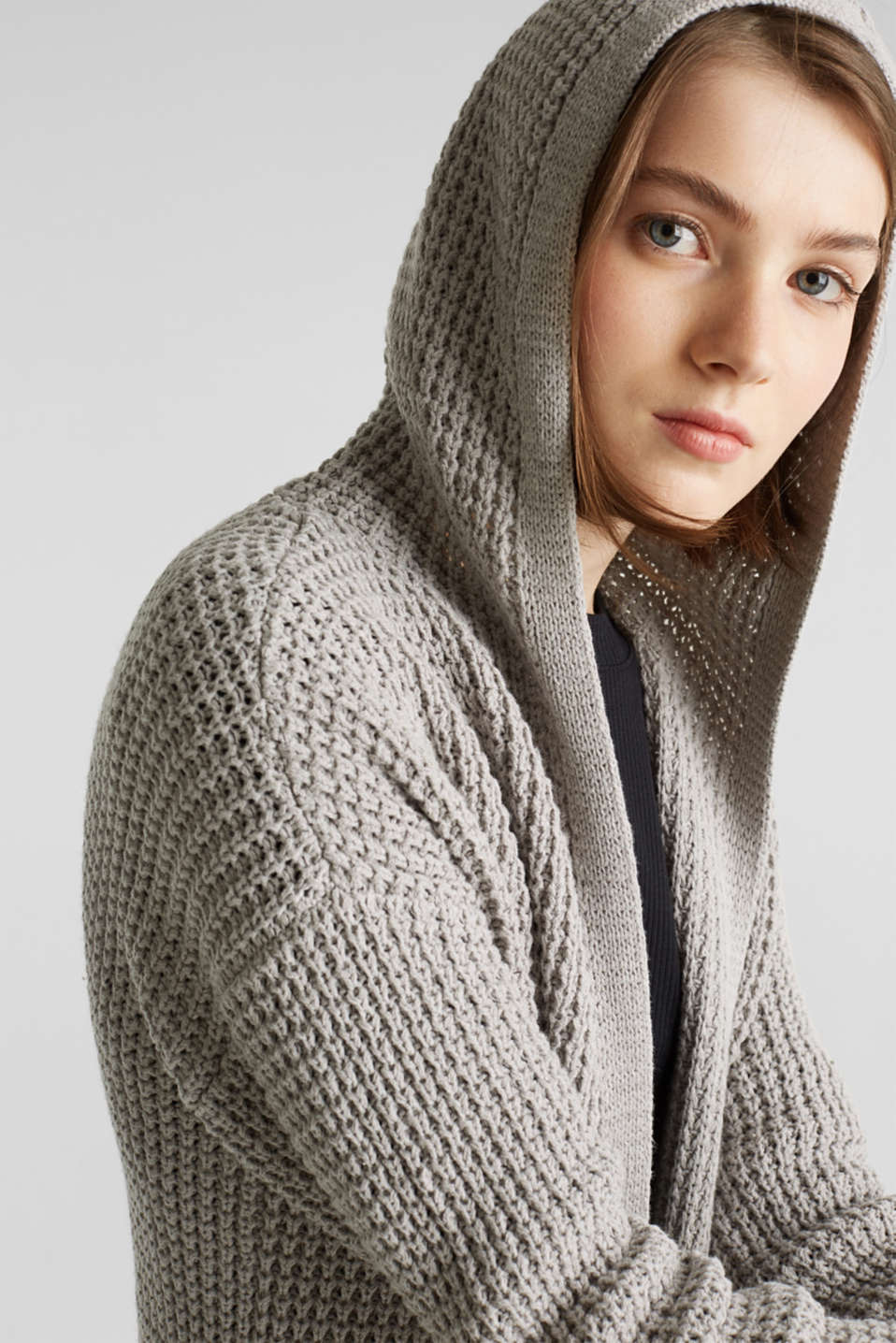 Sweaters cardigan, LIGHT GREY 5, detail image number 8
