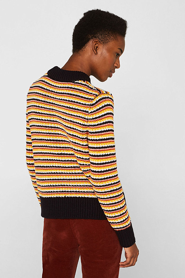 Jumper with multi-coloured stripes, NAVY, detail image number 3
