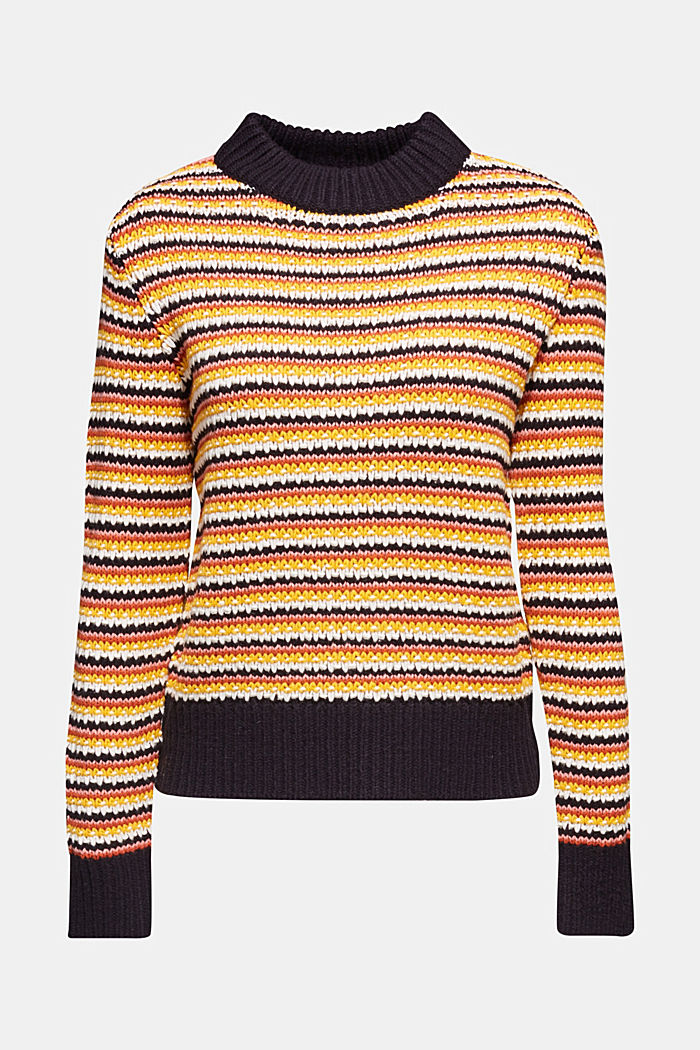 Jumper with multi-coloured stripes, NAVY, detail image number 5