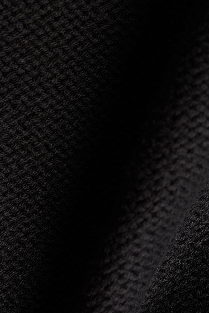 Coltrui met kabelpatroon, BLACK, detail image number 4