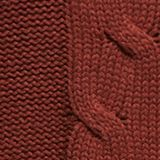 Polo neck jumper with cable pattern, RUST BROWN, swatch