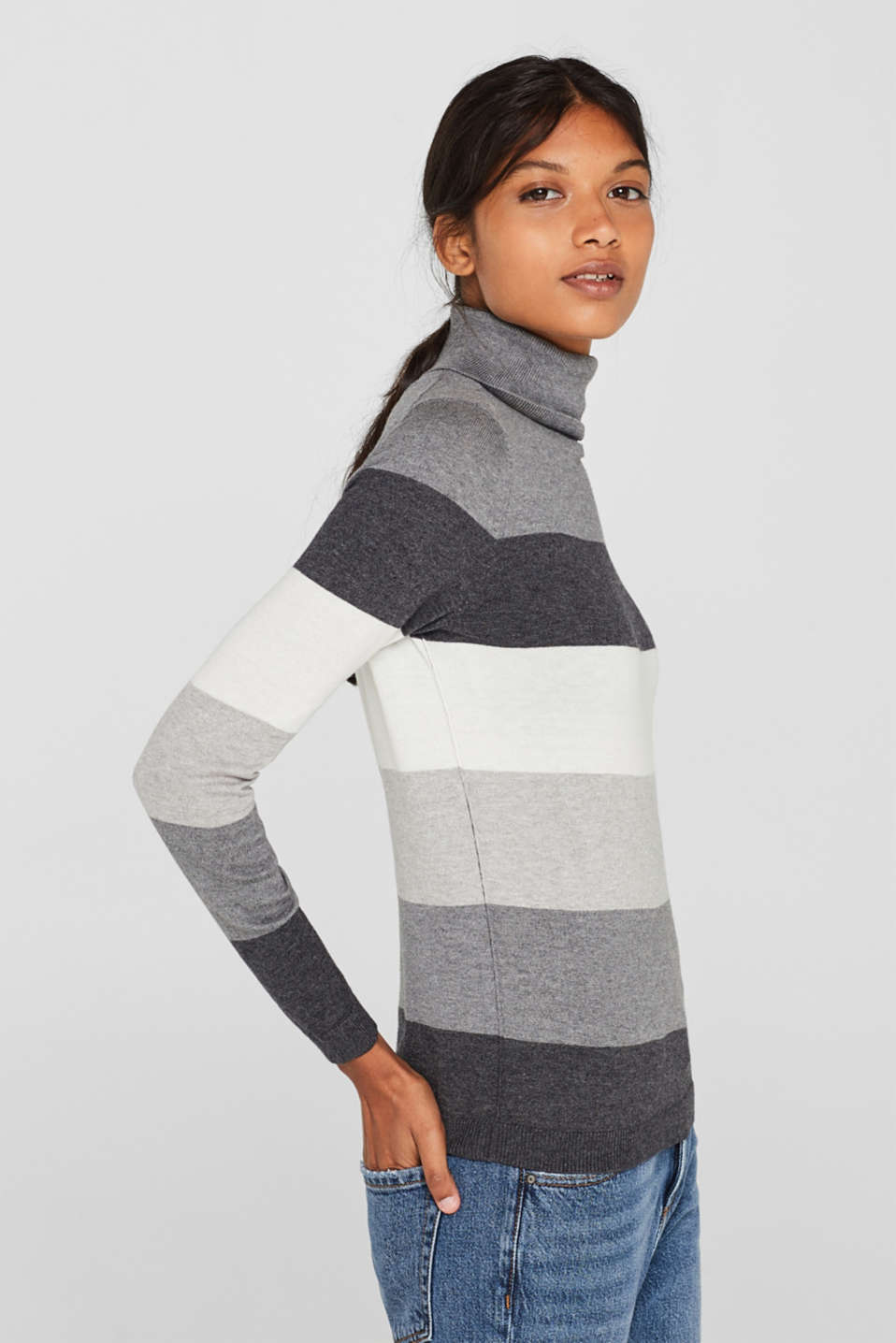 Sweaters, DARK GREY 4, detail image number 5
