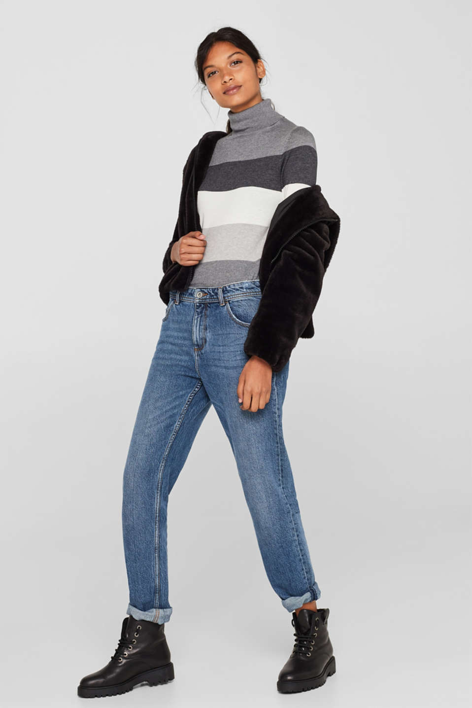 Sweaters, DARK GREY 4, detail image number 1