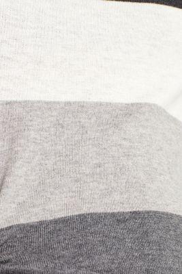 Block stripe polo neck jumper
