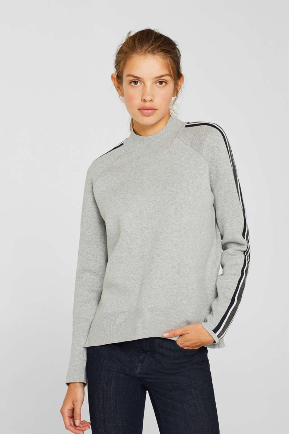 edc - Stretch jumper with racing stripes