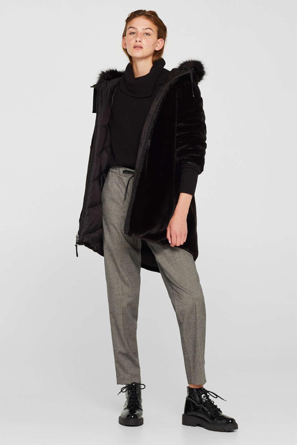 Sweaters, BLACK, detail image number 5
