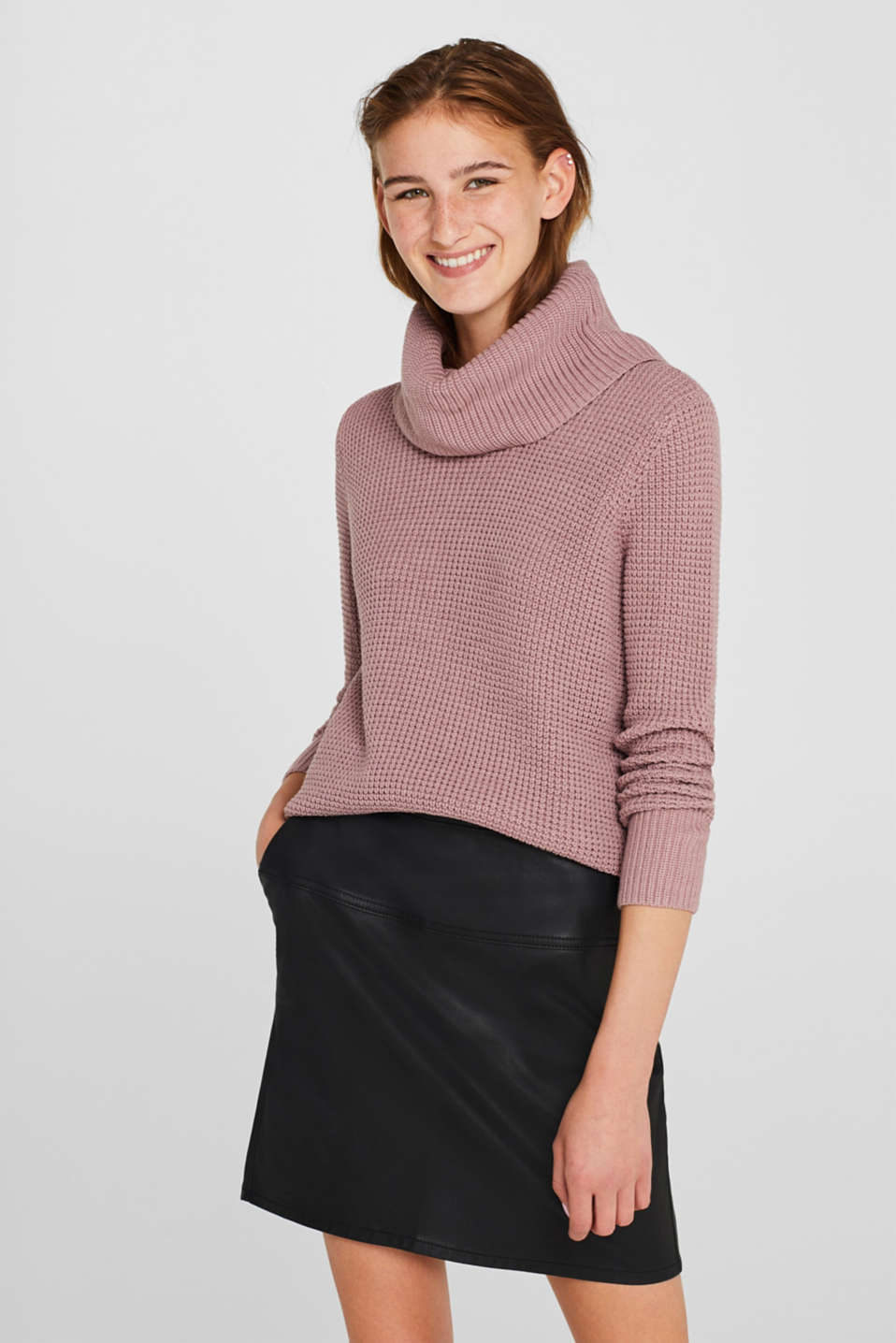 edc Struktur Pullover aus Baumwoll Mix im Online Shop kaufen