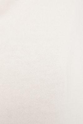 oversized polo neck jumper, OFF WHITE, detail