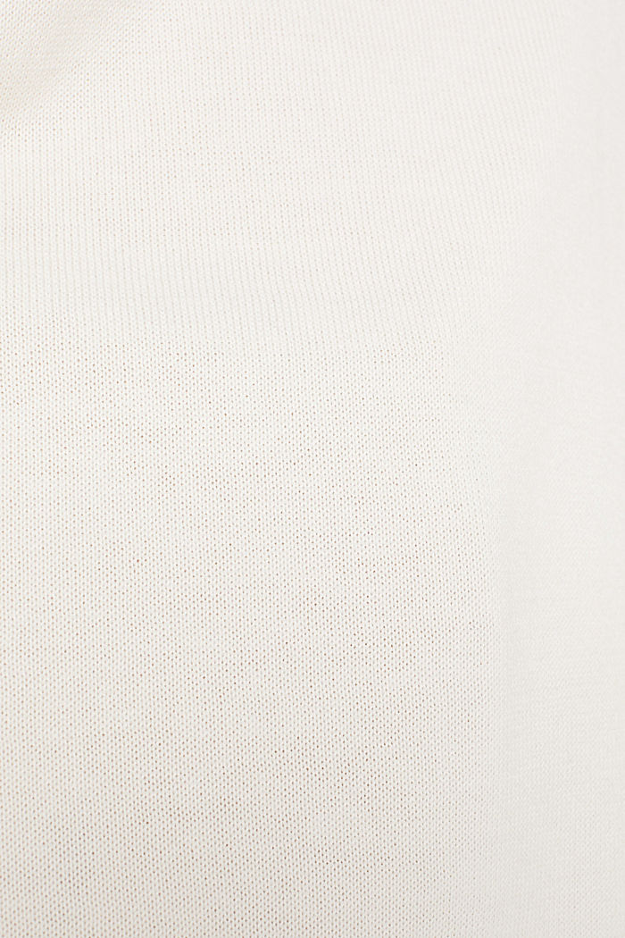 oversized polo neck jumper, OFF WHITE, detail image number 3