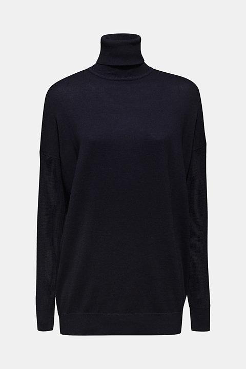 oversized polo neck jumper