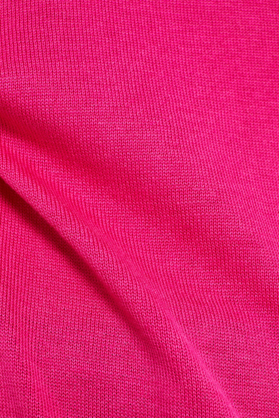 oversized polo neck jumper, PINK FUCHSIA 2, detail image number 4
