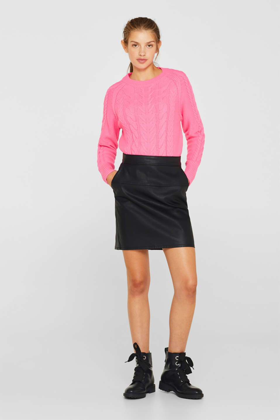 Sweaters, PINK FUCHSIA, detail image number 1