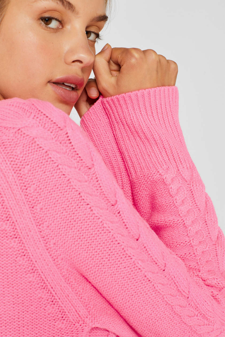 Sweaters, PINK FUCHSIA, detail image number 5