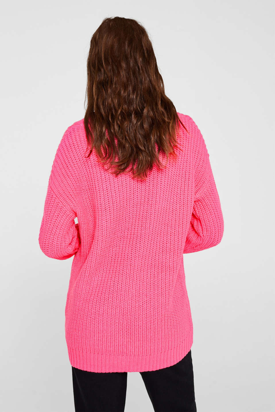 Sweaters, PINK FUCHSIA, detail image number 3