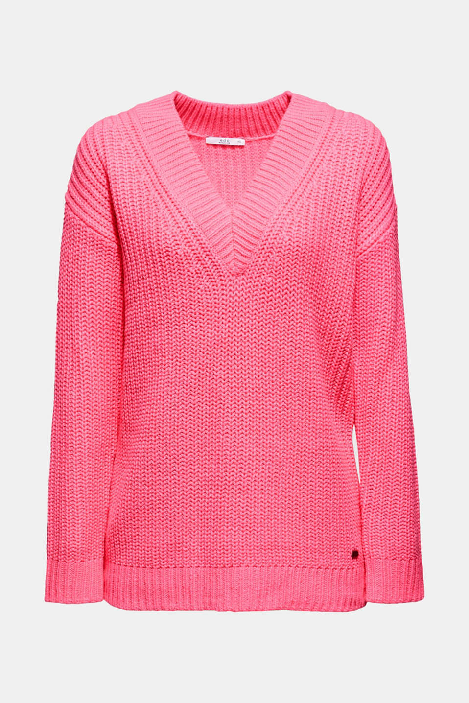 Sweaters, PINK FUCHSIA, detail image number 6