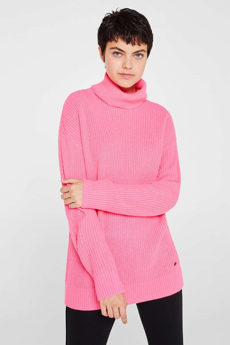 edc - NEON jumper, plain-coloured or with stripes