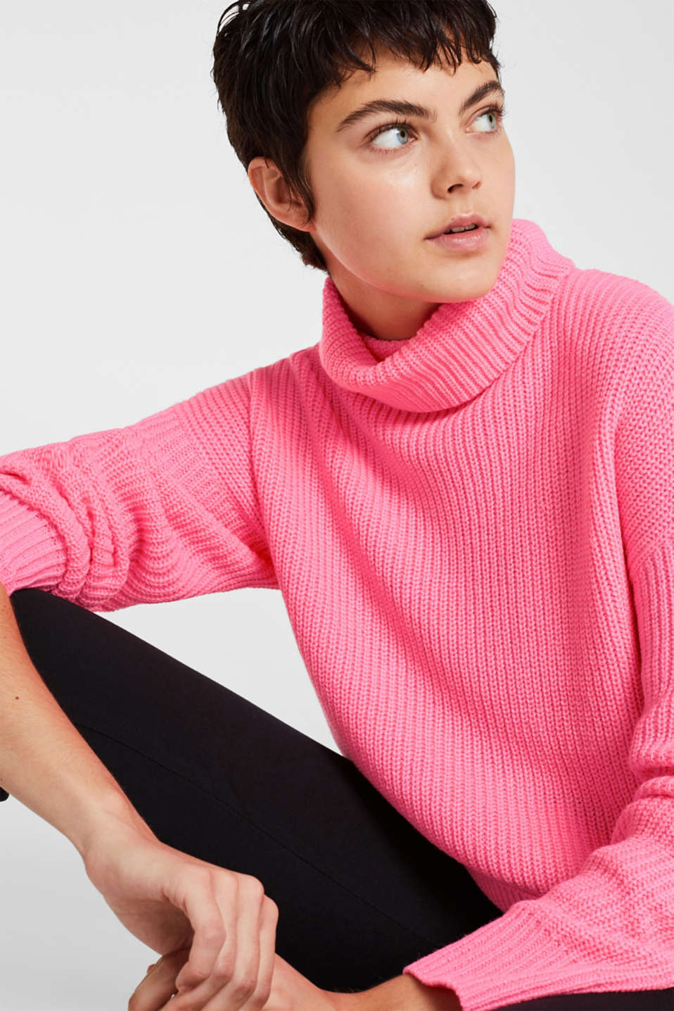 NEON jumper, plain-coloured or with stripes