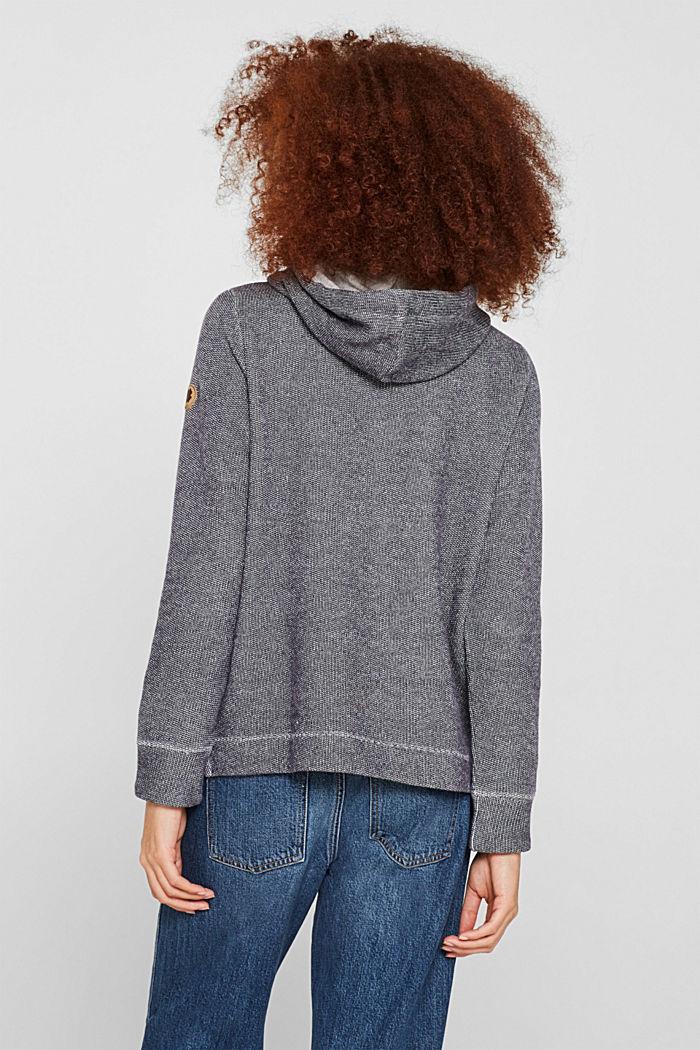 Sweatshirt mit 2-tone-Struktur, NAVY, detail image number 3