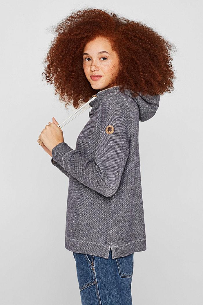 Sweatshirt mit 2-tone-Struktur, NAVY, detail image number 6