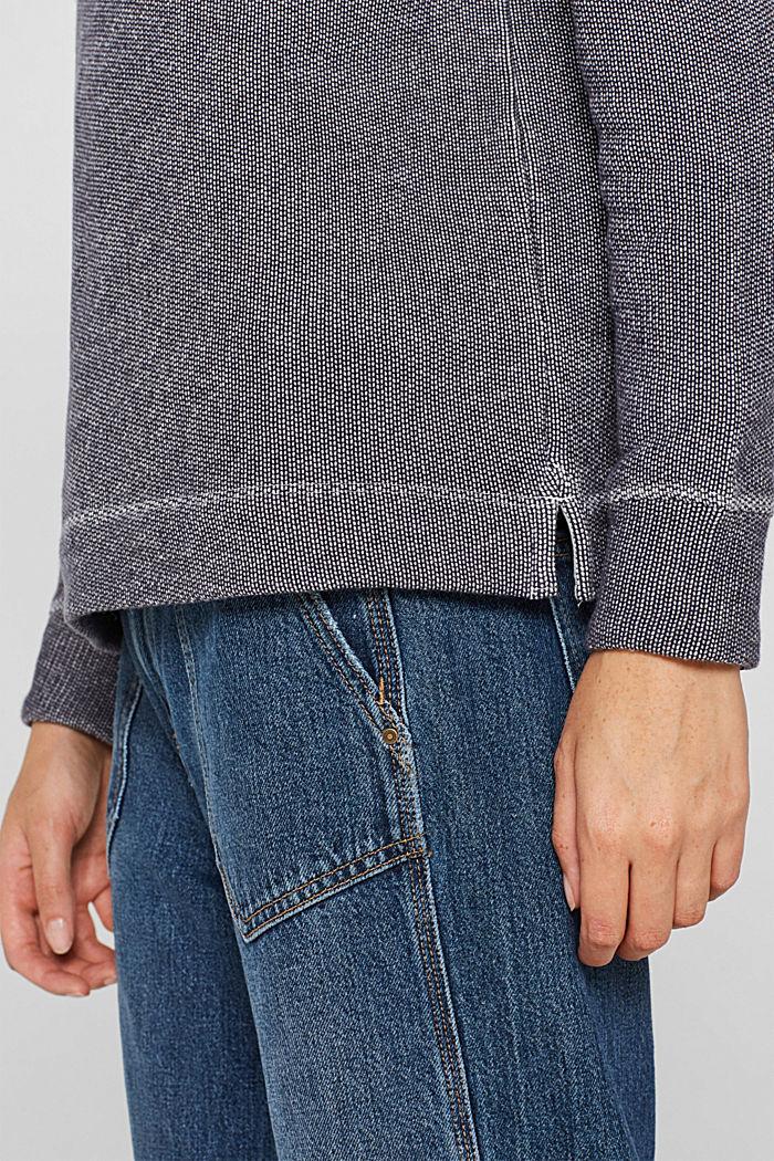 Sweatshirt mit 2-tone-Struktur, NAVY, detail image number 2
