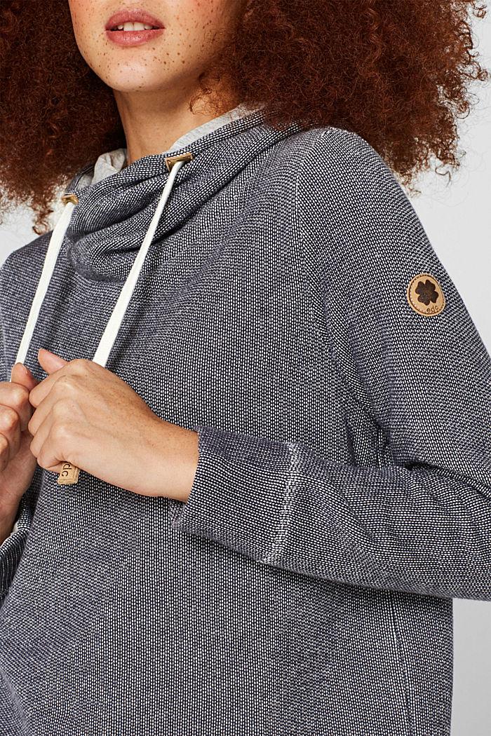 Sweatshirt mit 2-tone-Struktur, NAVY, detail image number 5