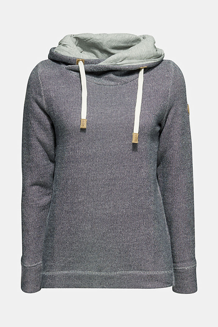Sweatshirt mit 2-tone-Struktur, NAVY, detail image number 0