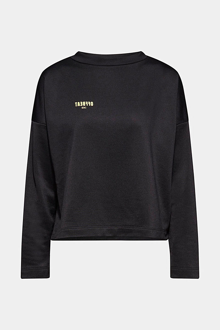 Boxy sweatshirt with printed lettering