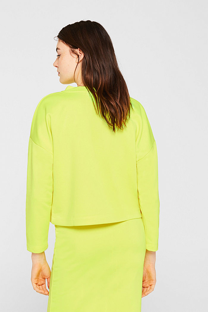 Boxy sweatshirt with printed lettering, BRIGHT YELLOW, detail image number 3