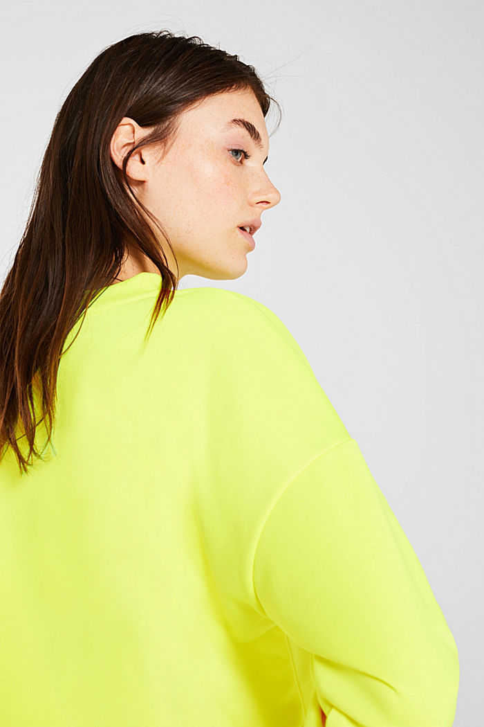 Boxy sweatshirt with printed lettering, BRIGHT YELLOW, detail image number 2
