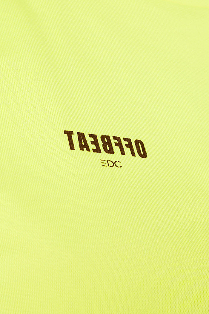 Boxy sweatshirt with printed lettering, BRIGHT YELLOW, detail image number 4