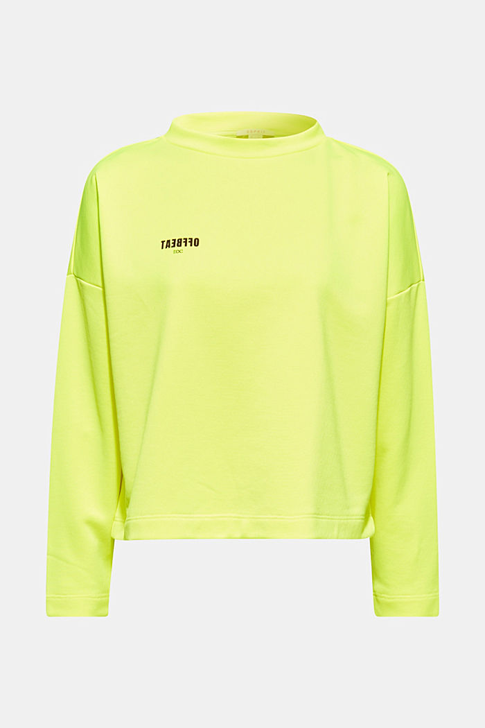 Boxy sweatshirt with printed lettering, BRIGHT YELLOW, detail image number 5